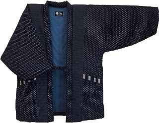Hail pattern Hanten (Cotton jacket made in Japan Kimono-style) Men's