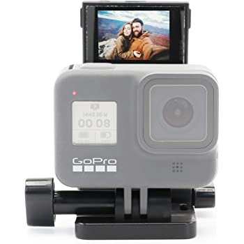 Vlog & Selfie Flip Mirror Set for GoPro 8/7/6/5 and Action Camera (Action Camera Must Have Rear Screen and GoPro mounts)