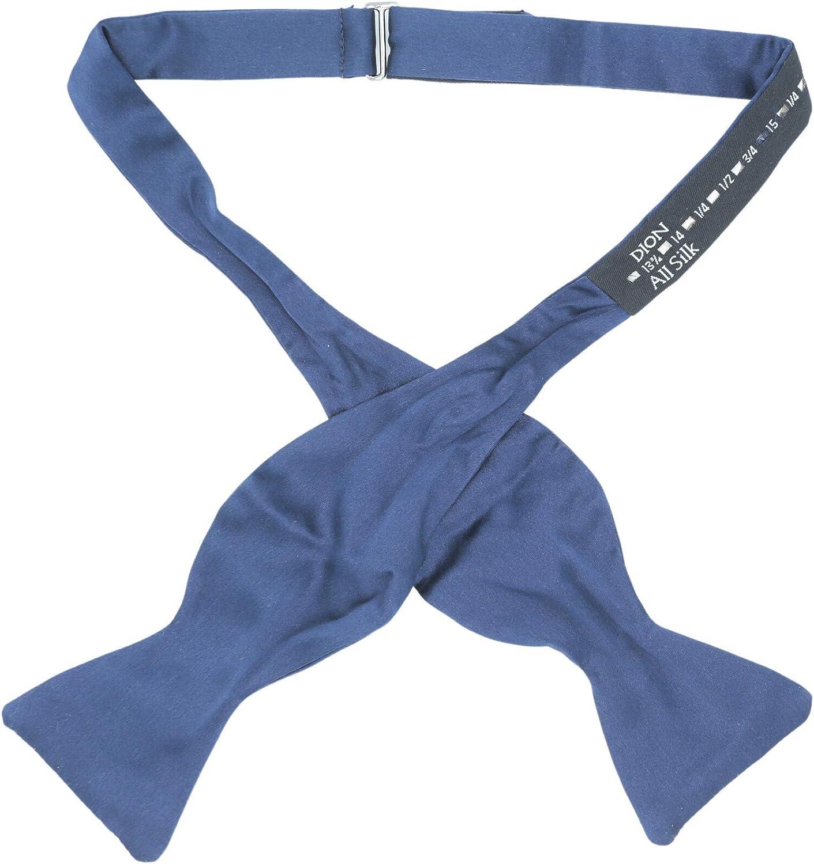 Dion Men's Silk Plain Hook Bow Tie