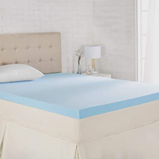 AmazonBasics Cooling Gel-Infused Memory Foam Mattress Topper - Ventilated, CertiPUR-US Certified Foam, 3-Inch - Queen