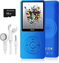 $20 » MP3 Player, Music Player with 16GB Micro SD Card, Ultra Slim Music Player with Build-in Speaker, Photo Viewer, Video Play,...