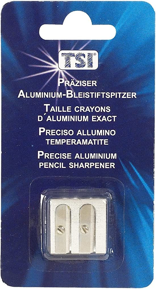 TSI Double Pencil Sharpener Aluminium
