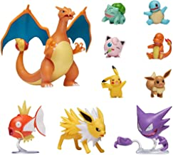 """Pokemon Official Ultimate Battle Figure 10-Pack - 2"""" Pikachu, 2"""" Charmander, 2"""" Squirtle, 2""""..."""