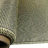 3K 200g fibra di carbonio mescolare tessuto aramidico giallo 2x2 Twill I Tessuto di forma 40 'x 40'