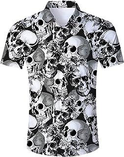 RAISEVERN Men's Tropical Hawaiian Shirt Casual Button Down Short Sleeve Shirt