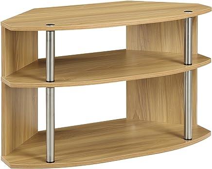Convenience Concepts Designs2Go Swivel TV Stand,  Light Oak