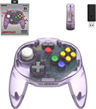 Retro-Bit Tribute64 2.4GHz Wireless Controller for N64, Switch, PC, Mac and other USB devices - Atomic Purple (Nintendo Sw...