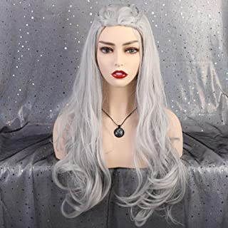 HAIRCUBE Wigs for Women Daenerys Targaryen Halloween Cosplay Costume Wig for Game of Thrones - Costume Hair Wig Color Silvery Gray Wigs