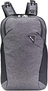 Pacsafe Vibe 20 Liter Anti Theft Travel Daypack - Fits 13 inch Laptop, Lightweight - with Lockable Zippers, Granite Melange Grey