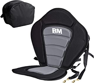 BEYOND MARINA Kayak Seats with Back Support for Sit On Top, Cushioned Seat Pad with Back Storage Bag, Comfortable Kayak Se...