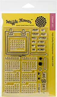 Waffle Flower Crafts 271020 Clear Calendar Stamps, 4 x 6