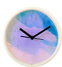 ÉQUILIBRÉ Rainbow Quartz Wall Clock for Match with Rainbow Cutlery or Flatware Set. Battery Operated Modern Decorative 7.7...
