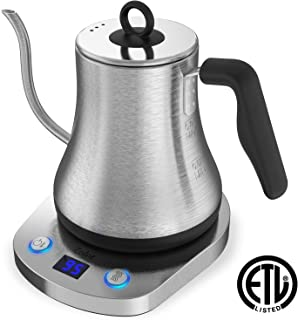 Zolot Variable Temperature Electric Kettle(0.8L, FDA Approved)120V, 1000W Stainless Steel Electric Pour Over Coffee Tea Kettle, Hot Water Boiler Heater with Keep Warm Function, Auto Shut-Off and Boil-Dry Protection