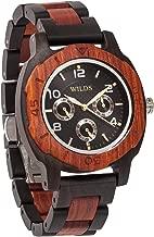 Wilds Wood Watches for Men - Premium Mens Wooden Watch - Japanese Miyota Quartz Movement - Wood Watch Band - Wood Bezel - Men Gift Idea