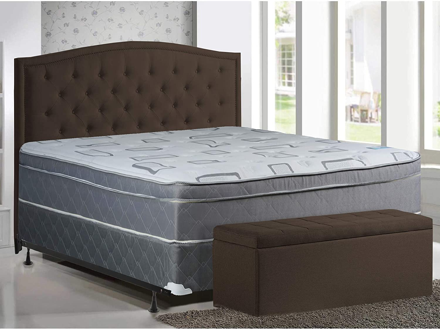 Mattress Solution 444zF-6 6-2 10-Inch Same day shipping Eurotop 35% OFF Fully Pillowtop As