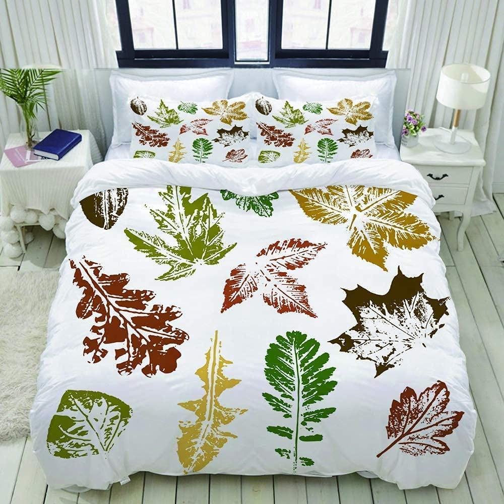LHNGOD Color Maple Leaf Classic Simple Co Painting 3D Printed Large discharge sale Duvet