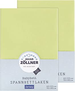 gr/ün Julius Z/ölllner Spannbetttuch Feinbiber 70x140 cm 3er Pack