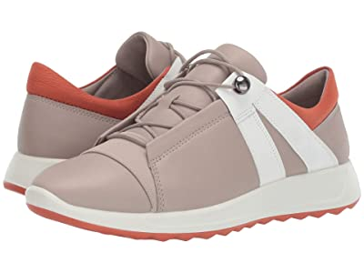 ECCO Flexure Runner II Sneaker (Grey Rose/White/Apricot) Women