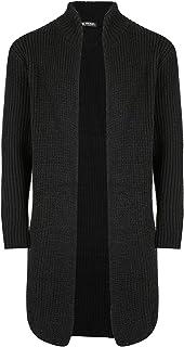 Be Jealous Men Smart Heavy Knit Open Front Longline Cardigan