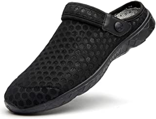 Femmes Hommes Sabots Mules Respirant Chaussures de Jardin Perforés-Sabot de Plage Sport Pantoufles Piscine Sandales D'Été ...