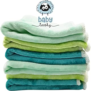 Baby Washcloths by Baby Tooshy. Soft & Organic Cloth Wipes Made of Bamboo & Cotton