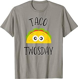 Taco Twosday Birthday Party Dos Tshirt Toddler Cinco De Mayo