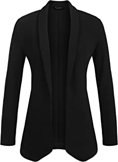 Womens Lightweight Open Front No-Buckle Casual Draped Tuxedo Blazer Cardigan Jacket Suits