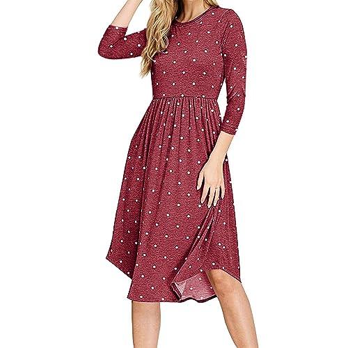 Womens Midi Dresses With Sleeves Amazoncom