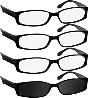 Sun Reading Glasses 1.25 0 3 Black 1 Sun Black Readers for Men and Women Spring Arms & Dura-Tight Screws Always Have a Stylish Look When You Need It