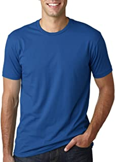 Next Level Mens Premium Fitted Short-Sleeve Crew T-Shirt - Black + Cool Blue (2 Pack) - X-Large