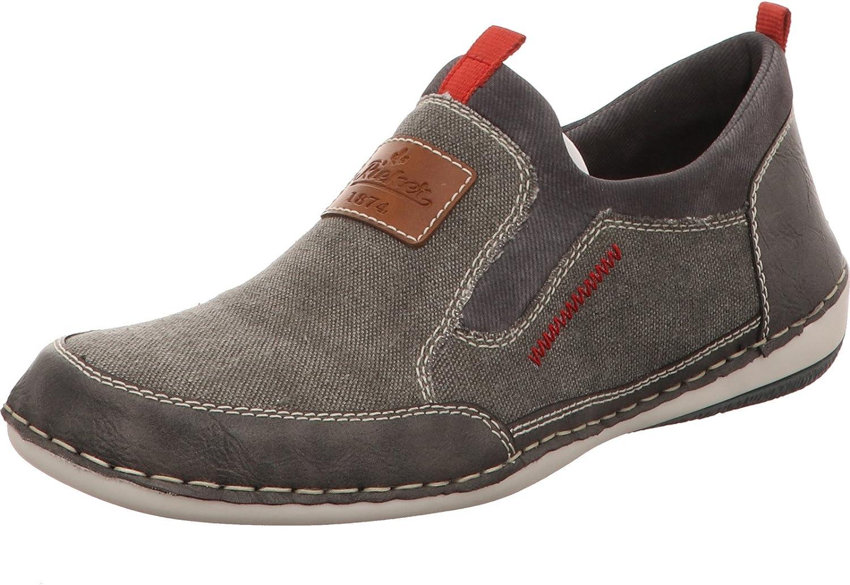 Rieker Men's Lace-Up Flats Grey Stein Cenere Rauch Amaretto