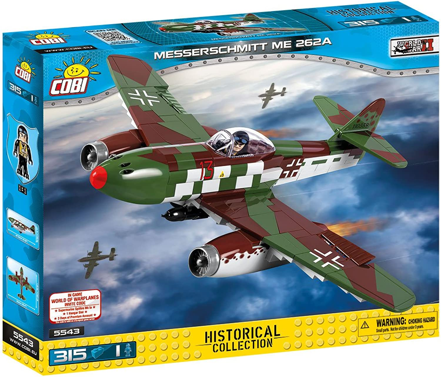 COBI Small Army Messerschmitt Me Building Kit, Multicolor