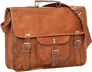 "Gusti Cuir nature ""Finlay 15"" cartable en cuir sac notebook sac bandoulière sac porté épaule sacoche business homme femme ..."