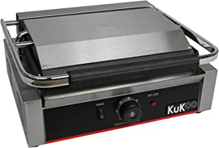 KuKoo – Presse à Panini Professionnel de 2,2kW, Grill à plaque Supérieur Rainurée et plaque Inférieure Plate pour Panini, ...