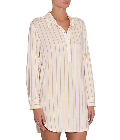 Eberjey Summer Stripes Boyfriend Sleepshirt (Multi/Ochre) Women