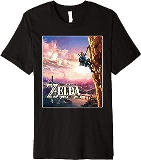 Nintendo Zelda Breath of the Wild Link Cliff Premium T-Shirt