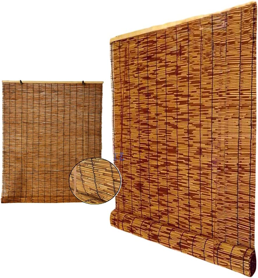 YAO Spring new work one after another XING Reed Curtain Natural Bamboo Roller Retro Decorat Finally resale start Blinds