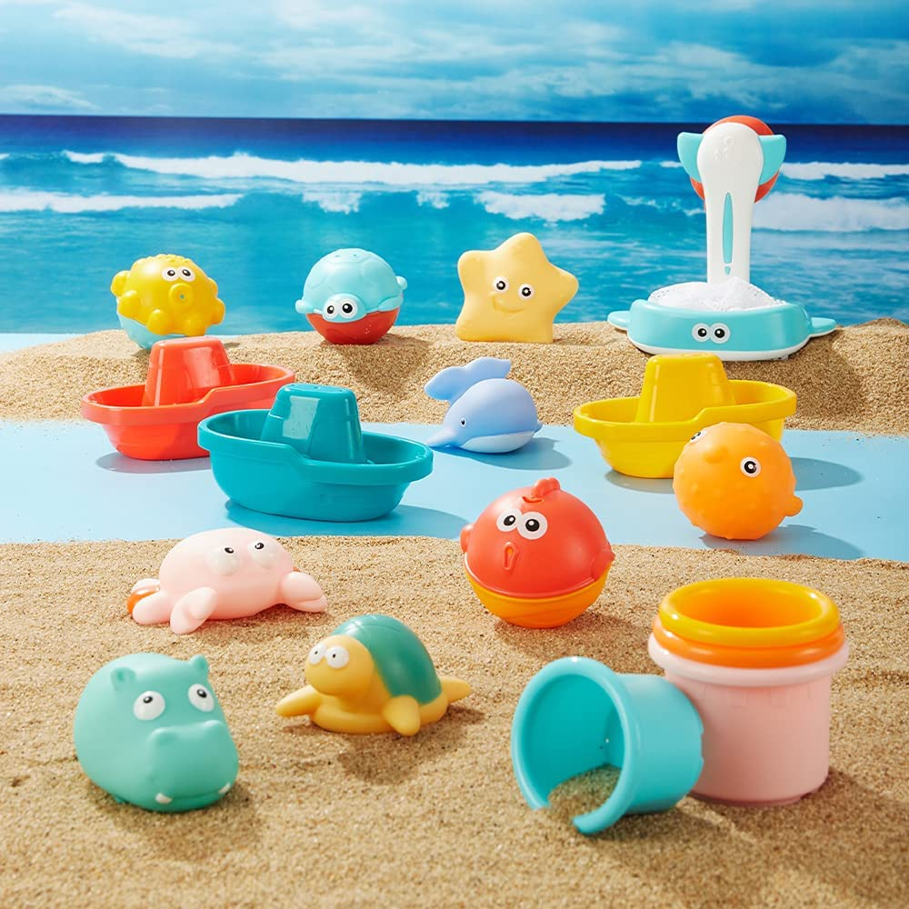 Max 46% Limited price OFF eners Bath Toy Sets Fun Bathtub Set Baby Toys Stacking