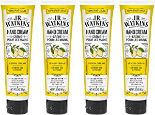 J.R. Watkins Hand Cream, Lemon 3.3 Ounce (Pack of 4)