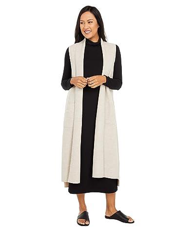 Eileen Fisher Long Shawl Collar Vest (Maple Oat) Women
