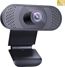 Wansview Webcam PC Full HD 1080P con Micrófono, Webcam Portátil para PC, Webcam USB 2.0, Streaming Cámara Reducción de Ruido para Videollamadas, Grabación, Conferencias con Clip Giratorio, 102