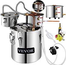 VBENLEM Moonshine Still 9.6 Gal/ 38 Liter Stainless Steel Water Alcohol Distiller Copper Tube With Circulating Pump Home Brewing Kit Build-in Thermometer for DIY Whisky Wine Brandy Spirits Brandy