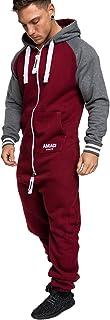 Amaci&Sons Herren Overall Jumpsuit Onesie Jogging Sportanzug Trainingsanzug Jogginganzug 3022