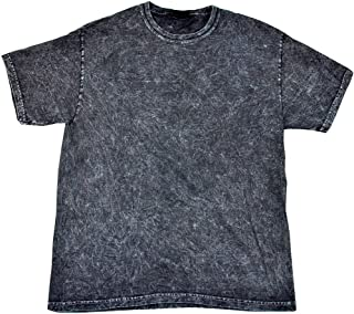 black acid wash tee