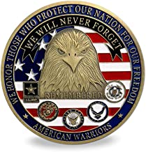 Proud Military Family Challenge Coin - We Will Never Forget