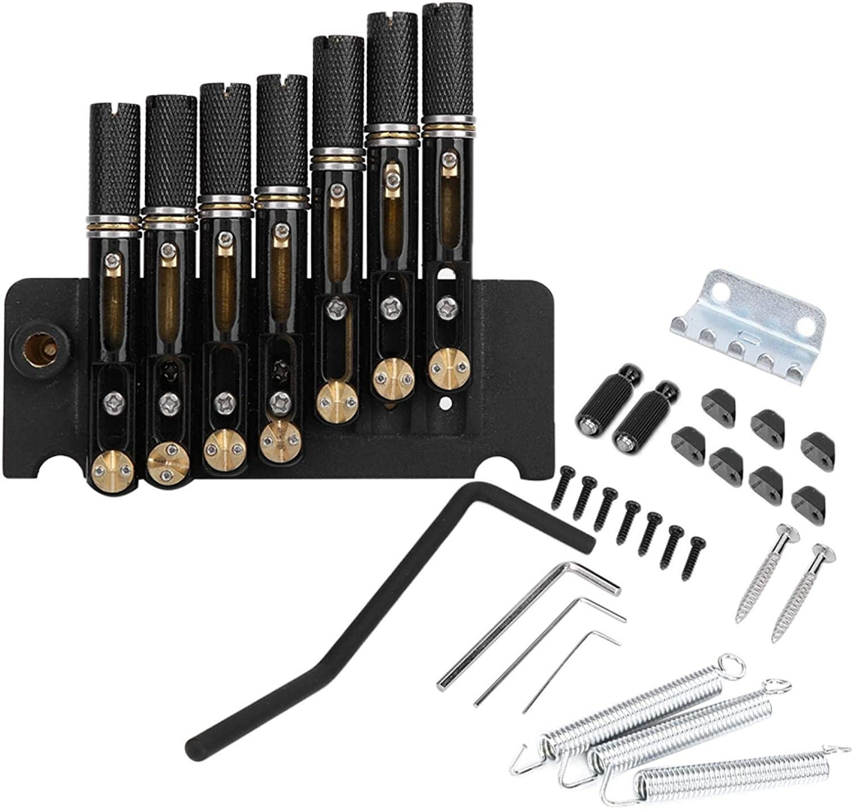 Kit de puente de combinación sin cabeza de 7 cuerdas para guitarra eléctrica fácil de usar para presionar la cuerda y sujetar la cuerda para reemplazar la rota o vieja
