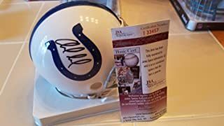 Andrew Luck Autographed Signed Memorabilia Colts Mini Helmet JSA COA