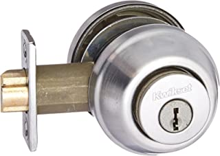 Kwikset 599 26D Double Cylinder Gate Latch Deadbolt, Satin Chrome