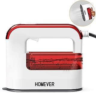 スチームアイロン, Homever 衣類スチーマー シャツ アイロン ハンガーにかけたまま 2019最新のハンディアイロン 軽量 小型 携帯 旅行 家庭 出張用 脱臭 人気, 2年保証エレガントブルー(赤い)