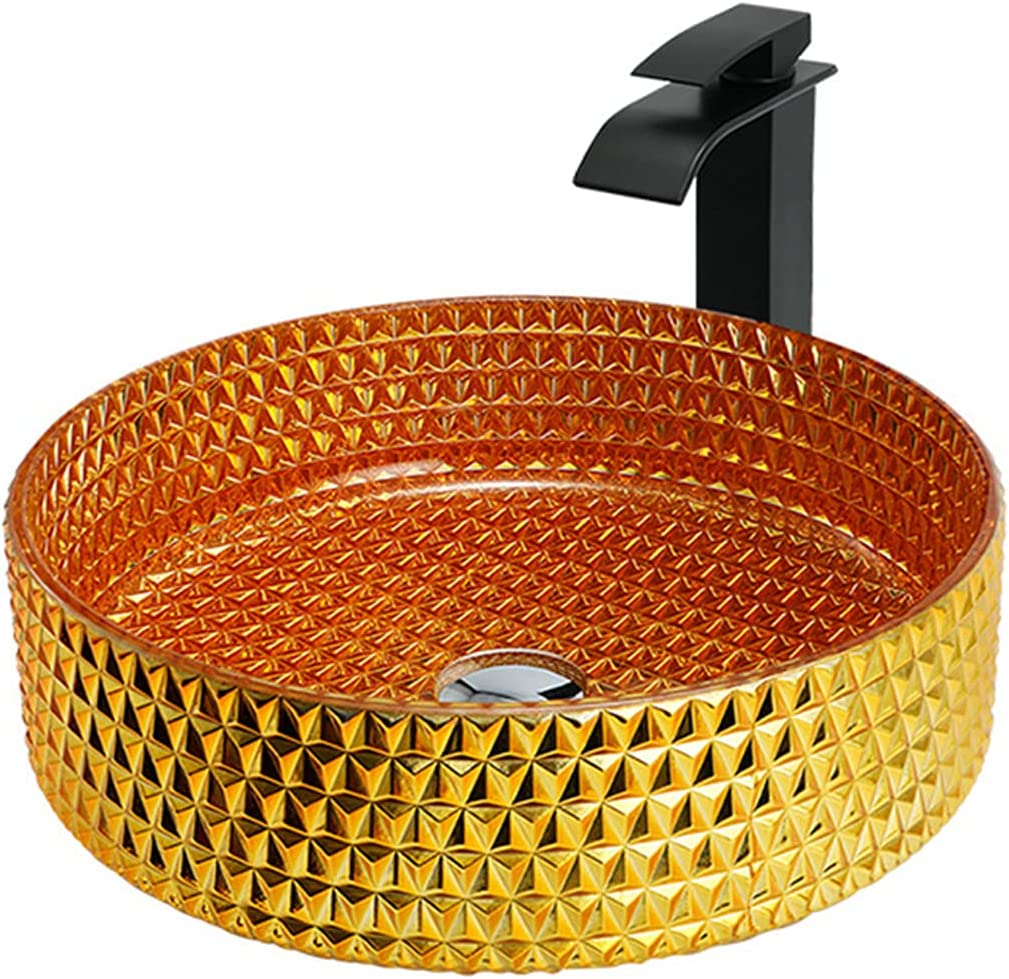 QREZ Bathroom Sink Glass Seasonal Wrap Introduction Vessel Washing Cheap sale Bowl Va Basin Set
